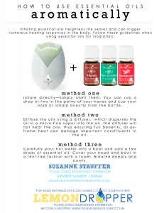 Use Young Living Oils Aromatically